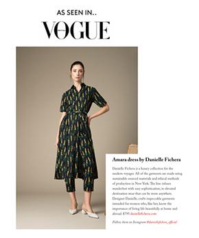 Danielle Fichera Vogue UK Amara Dress Press