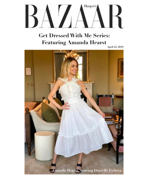Danielle Fichera featured in Harper's Bazaar Magazine