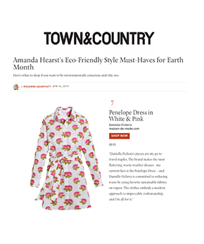 Danielle Fichera featured in Town and Country Magazine