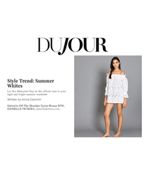 Danielle Fichera in DuJour Magazine