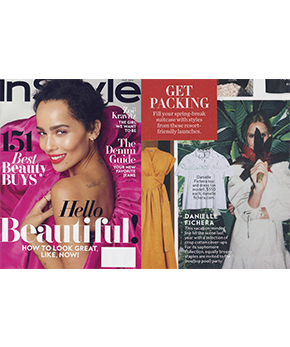 Danielle Fichera featured in InStyle Magazine