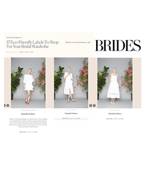 Danielle Fichera in Brides Magazine