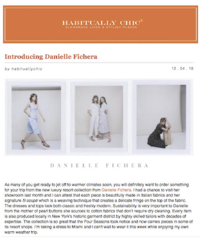 Danielle Fichera in Habitually Chic