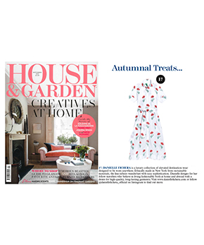 Danielle Fichera in House and Garden Magazine