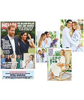 Danielle Fichera in Hello Magazine