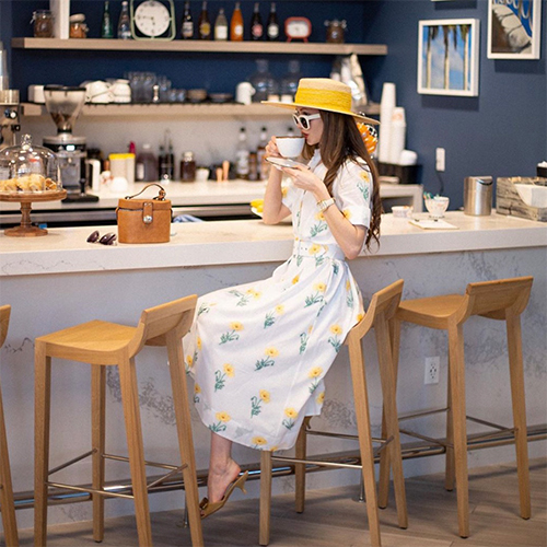 As Seen On - Amara Dress II in White and Yellow