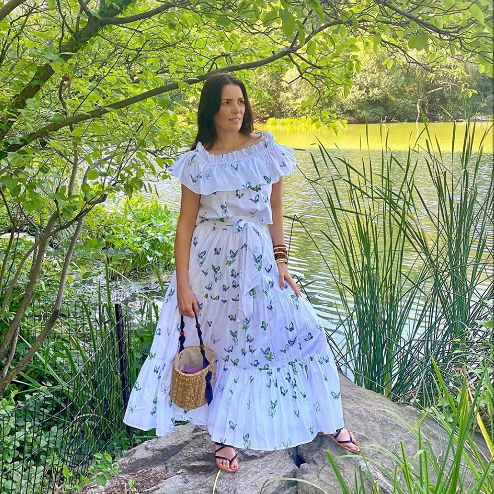 Ann Caruso in Lila Top and Vivian Skirt