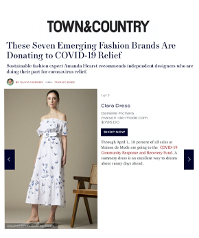 Danielle Fichera in Town and Country Magazine