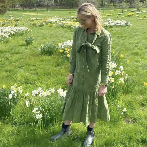 Amaryllis Dress in Loden Green