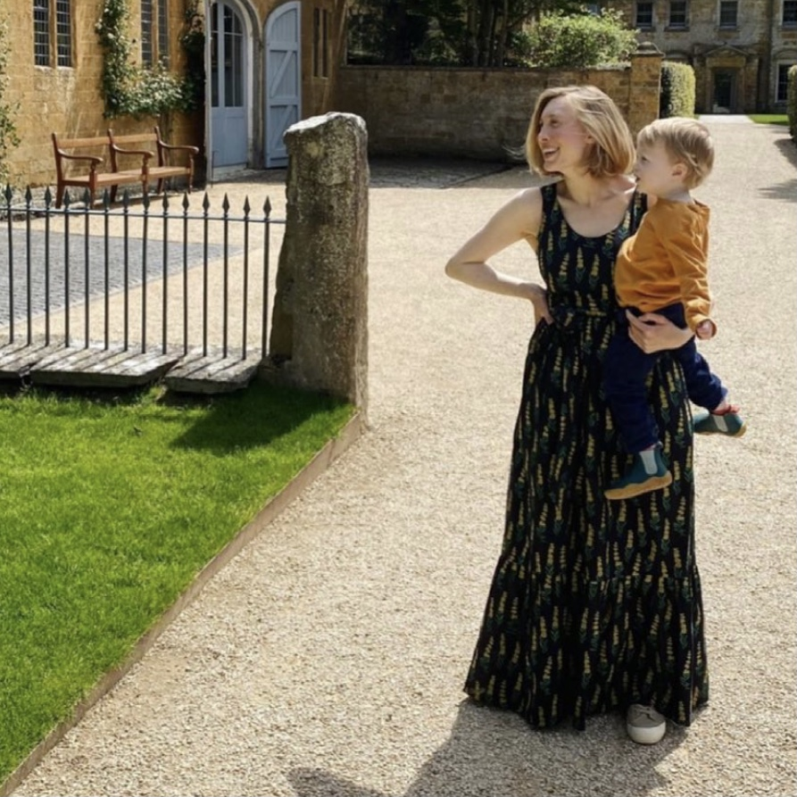 Genevieve Maxi Dress in Black and Yellow